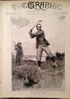 The Graphic Magazine May 1890 Golf Cover