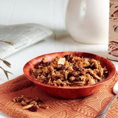 This healthy & delicious Pumpkin Granola embraces all the flavors of fall.