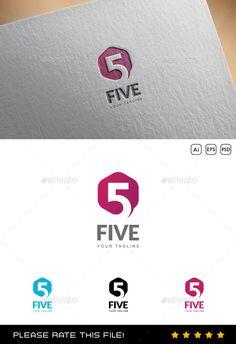 Buy Five Logo by Exe-Design on GraphicRiver. Font used: - Lato Files included: - vector file - AI, EPS, PSD 5 Logo, Star Logo, Logo Branding, Logo Design Template, Logo Templates, Number Logos, Hi Five, Fish Logo, Background Design Vector