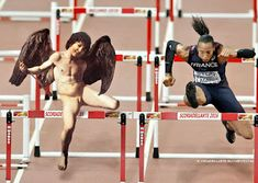 Caravaggio's Athletics World, Rio 2016 John William Godward, William Adolphe Bouguereau, Usain Bolt, Edgar Degas, Carrie Fisher, Caravaggio, Rio 2016, Cool Art, Fun Art