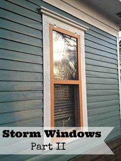 DIY Storm Window tutorial using...Plexiglas. They are also novices so it's a great simple tutorial.
