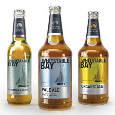 Shepherd Neame's Whitstable Bay bottles, designed by JDO. beer mxm