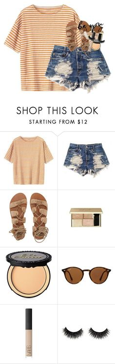 """boys seem to like the girls who like to kiss and tell"" by classynsouthern ❤ liked on Polyvore featuring Toast, Levi's, Billabong, Too Faced Cosmetics, Ray-Ban, NARS Cosmetics and Kendra Scott"