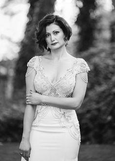 Alon Livne bridal gown. Sedona Weddings. L'Auberge de Sedona.