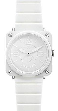 BELL & ROSS, BRS WHITE PHANTOM CERAMIC BRACELET: lol the price. #bell_and_ross #ceramic #watch