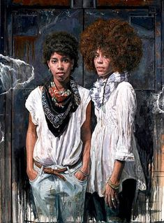 "Tim Okamura""s ""Bronx-Brooklyn-Queens""~Tim Okamura (born 1968 in Edmonton, Alberta, Canada) is a contemporary Canadian painter known for his depiction of African-American and minority subjects in urban settings, and his combination of graffiti and realism. His work has been featured in several major motion pictures and in London's National Portrait Gallery. He was also one of several artists to be shortlisted in 2006 for a proposed portrait of Queen Elizabeth of England."