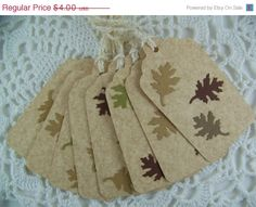 CIJ Fall Gift Tags Favor Label for by EllieMarieDesigns on Etsy, $3.20