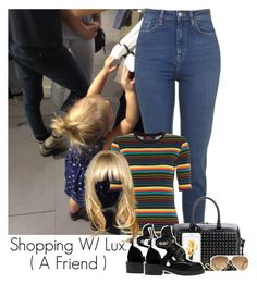 """""""Luxie"""" by idaln ❤ liked on Polyvore featuring Motel, Yves Saint Laurent, Balenciaga, Ray-Ban, Pull&Bear, OneDirection, harrystyles, LiamPayne, NiallHoran and louistomlinson"""