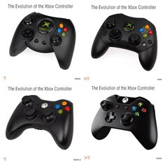 Evolution of the Xbox controller.