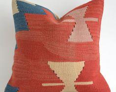 Sukan Kilim Pillow Vintage decorativo Throw Pillow bordado a mano turcas tribales Boho Almohada Sofá Sofá cubierta de almohadas acento Cojín
