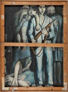 Andrzej Wróblewski, Liquidation of the Ghetto/Likwidacja getta, photo: courtesy of The Andrzej Wróblewski Foundation Gouache, Social Realism, Stream Of Consciousness, Photo Memories, Sculpture, Gravure, Figure Painting, Figurative Art, Inspiring Art