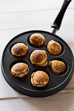 Stuffed Pancake Puffs with the Ebelskiver Pan @abeautifulmess