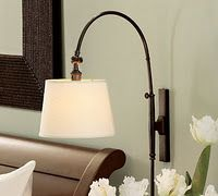 Ideas For Diy Lamp Bedside Pottery Barn Wall Mounted Bedside Lamp, Plug In Wall Sconce, Wall Sconces, Wall Lamps, Bedside Lighting, Bedroom Lighting, Sconce Lighting, Fireplace Candle Holder, Candles In Fireplace