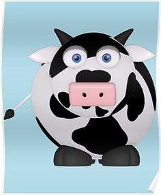 Cartoon Cow-2
