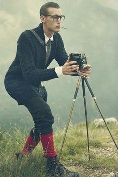Qvest magazine - Viva gli alpinisti! by Stefan Giftthaler, via Behance