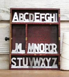 """Custom Vintage Aluminum Letters 