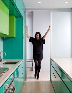 Marina Abramovic in Kitchen