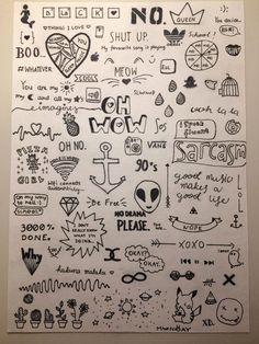 cute drawings of love ; cute drawings of people ; cute drawings for boyfriend Notebook Drawing, Notebook Doodles, Notebook Art, Doodle Art Journals, Cute Easy Drawings, Mini Drawings, Pencil Art Drawings, Simple Tumblr Drawings, Tattoo Drawings