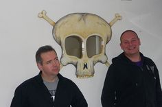 Funky Mirrors artist and sculptor Marquess with Client...