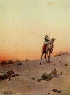 Robert Talbot Kelly (English, 1861-1934). A desert scout, Egypt, 1903