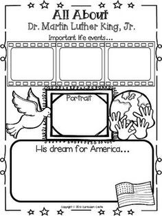 Printables Martin Luther King Worksheet martin luther king jr worksheets lessons for winter activities 4th grade google search