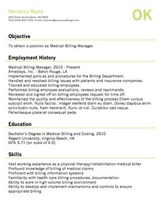 medical office manager resume example | resume examples, medical ... - Medical Billing Resume Examples
