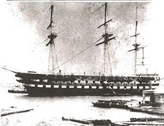 USS North Carolina 74-gun ship of the line. She was launched on 7 September 1820.