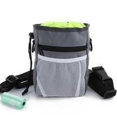 ScivoKaval Dog Treat Training Pouch, Built in Poop Bag Dispenser, Adjustable Waist Belt and Over the Shoulder Strap Included, Treats and Toys Carriers, Roll of Waste Bags as Bonus -- Click image to review more details. (This is an affiliate link and I receive a commission for the sales)