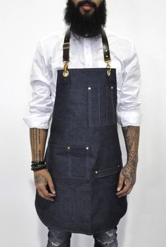 Bartender Apron in Chambray