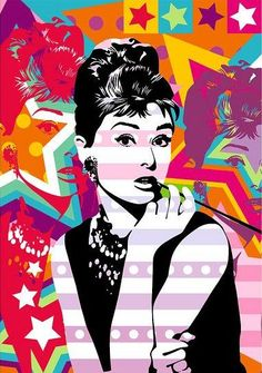 Check out some paintings of artworks by the Brazilian plastic artist Lobo. With his vibrant style in Pop Art, the artist Lobo has been conquering Brazil. Arte Pop, Arte Audrey Hepburn, Pop Art Decor, Pop Art Movement, Art Watercolor, Illustrations, Amazing Art, Comic Art, Photo Art