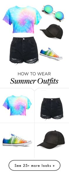 """Summer outfit"" by burton-keri on Polyvore featuring Topshop, Converse and BCBGeneration"