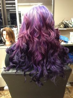 Pretty waves of plum! I love this! Might have to try it out one day!