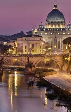 Rome, River & Vatican. I spent a semester in Rome and this is the what we would always see coming home at all hours of the day and night. I know I have an infinite amount of photos like this because the view never stopped being beautiful.