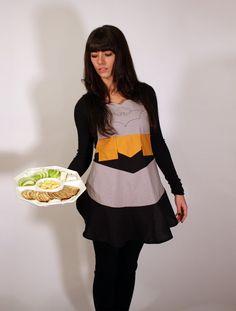 Batman apron for women  adult large  handmade & free by jordandene, $55.00