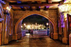 #Disneyland Paris. A view of the Disneyland Hotel and Main Street seen from underneath the Sleeping Beauty Castle #DLRP #DLP #Disney 'Le Château de la Belle au Bois Dormant'