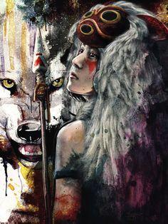 Princesse Mononoké ~ par Barrett Biggers