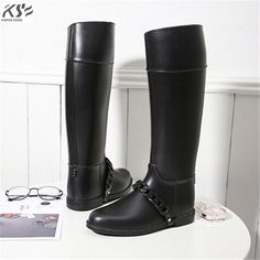 See related links to what you are looking for. Tall Lady, Comfortable Boots, Tall Women, Rain Wear, Riding Boots, Women's Boots, Shoes Women, Knee High Boots, Rubber Rain Boots