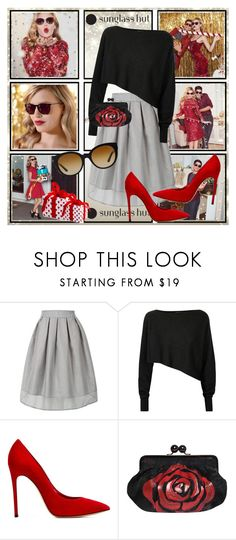 """""""Every Shade with Sunglass Hut: Contest Entry"""" by katsfashion ❤ liked on Polyvore featuring Crea Concept, Casadei, Deglupta, Versace, contestentry and sunglasshut"""