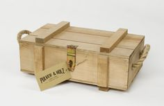 Army style whisky /Spirits /Beer wooden box /2 spaces /Rope /Free wood wool /Gift by PulverandHolz on Etsy