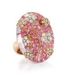 Cellini Jewelers ~ pink amethyst Spring oval ring