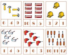 * Tellen! 1-3 Numbers Kindergarten, English Lessons For Kids, Construction Tools, Community Helpers, Educational Activities, Robot, Holiday Decor, School, Mother And Father