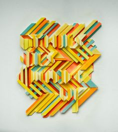 Typography made with paper