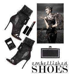 """""""Embellished Beauty"""" by kotnourka ❤ liked on Polyvore featuring Dsquared2, Judith Leiber, Witchery and Sisley"""