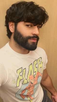 An awesome hairstyle and thick moustache and beard for a boy to man transformation! Great Beards, Awesome Beards, Beard Styles For Men, Hair And Beard Styles, Beard No Mustache, Moustache, Men's Grooming, Barba Sexy, Short Beard