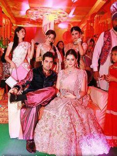 Aamna Sharif Wedding Pictures : Manish Malhotra baby pink lehenga