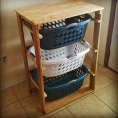Folding table and basket holder