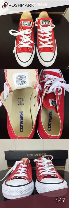 344a0fe2f4e NWT Converse All Star Unisex Low Tops in Red 🙌🏼 NWT!! 🙌🏼