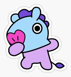 'Mang Dabbing - BTS / Pegatina by Kpopgroups Pop Stickers, Tumblr Stickers, Printable Stickers, Bts Chibi, Bts Drawings, Kawaii Drawings, Kawaii Chibi, Line Friends, Aesthetic Stickers