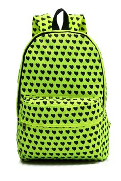 #Romwomen              Fluo Green Casual Backpack.see more http://www.carrywithme.com/product-category/backpaks/casual-daypacks/