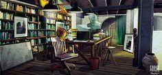 Environment interior - Studio   Cinema set Codice Privato by Silva Giovanni